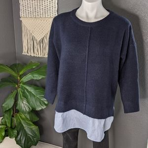 Debut Pullover Layered Sweater Shirt S/M